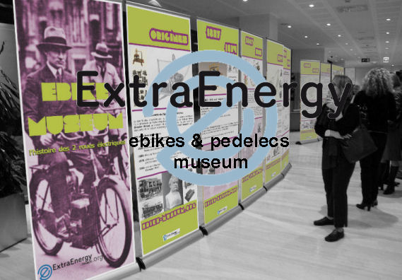 elektrofahrrad, e-bike, pedelec and electric motorcycle mobile museum by ExtraEnergy France